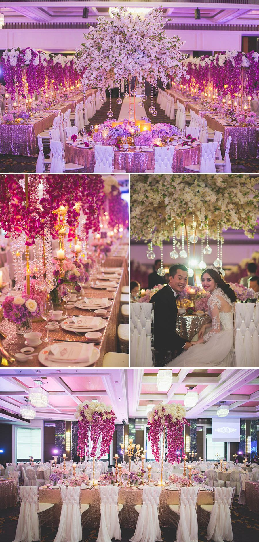 Purple Splendour Jwin And Pei Lu S Wedding At The Majestic Hotel
