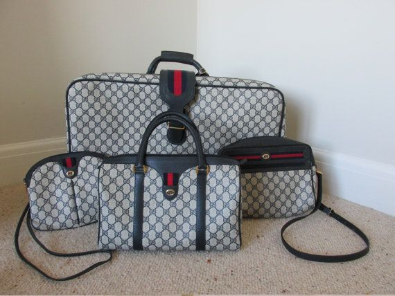 26dfd807afae1 Gucci suitcase 70s vintage luggage, overnight case holiday luggage ...