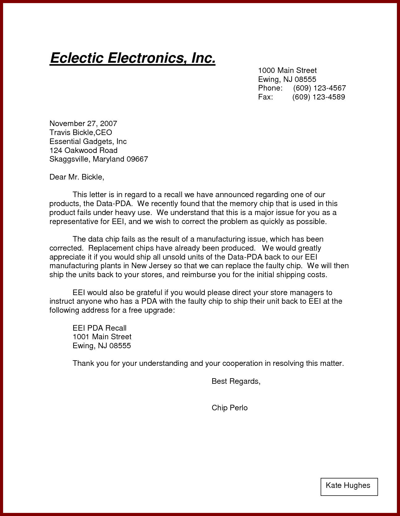 sales letter sample