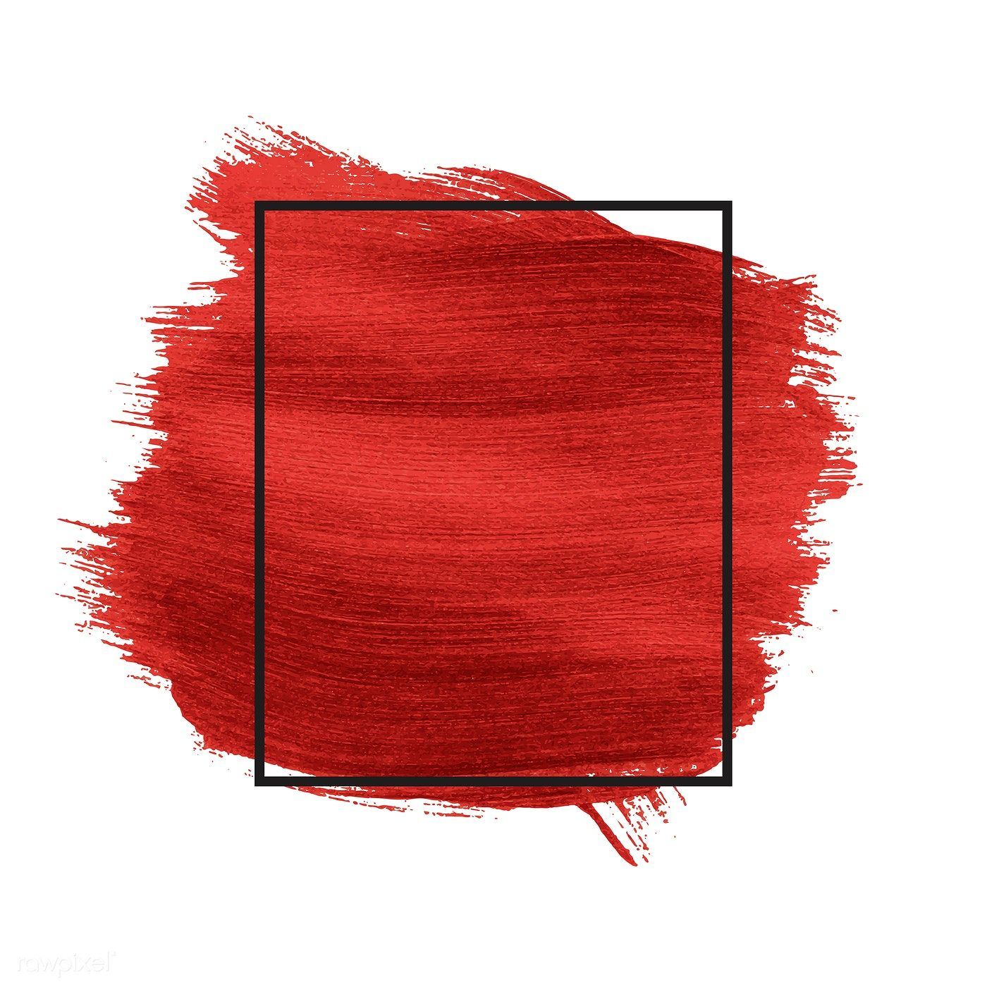 Download Premium Vector Of Red Brush Stroke Badge Vector 552479 Photo Frame Design Banner Background Images Background Design Vector