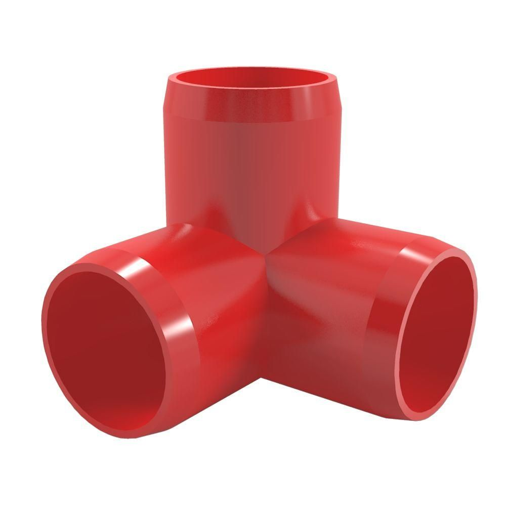 Formufit 1 14 In Furniture Grade Pvc 3 Way Elbow In Red 4 Pack