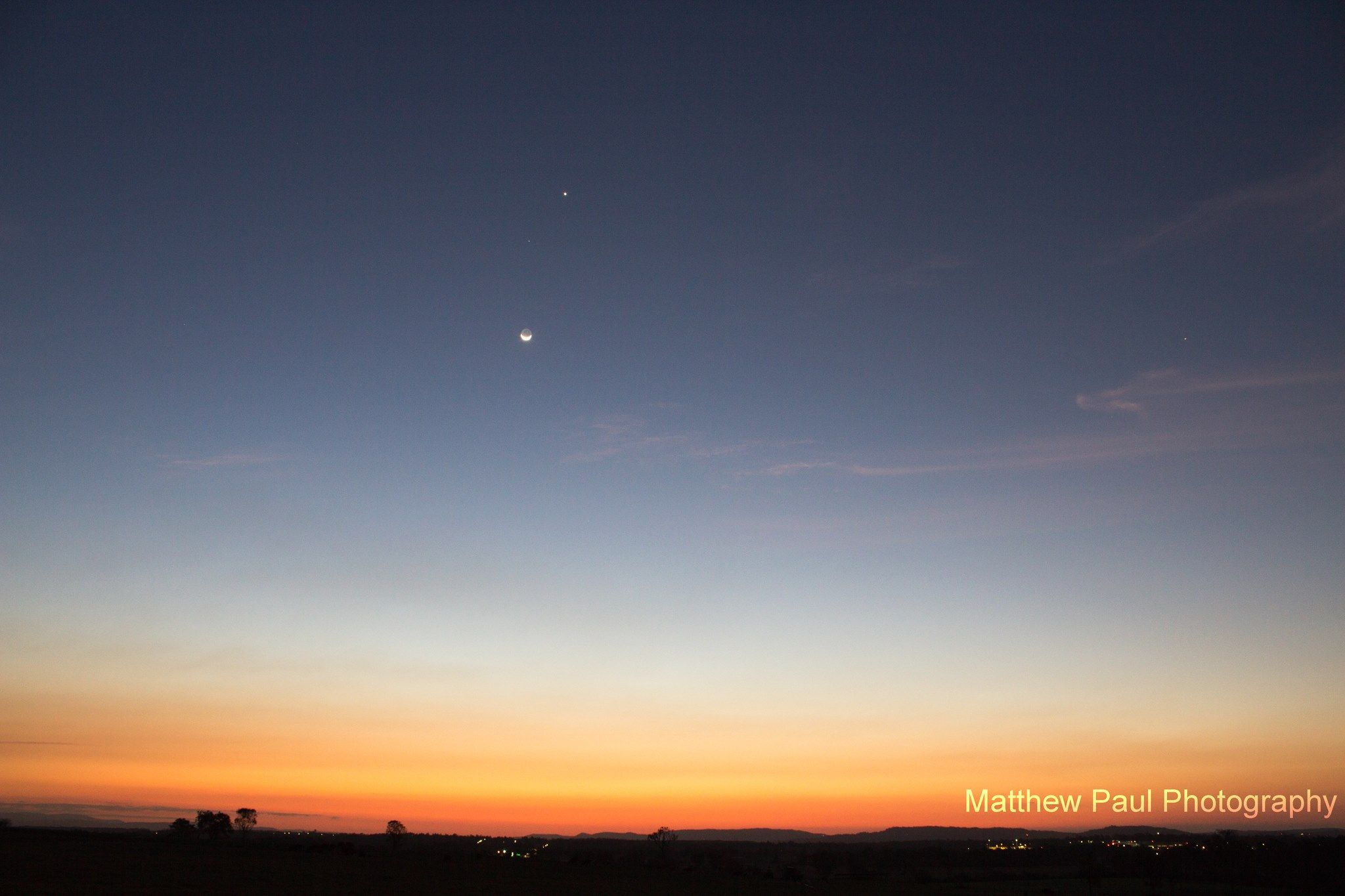 Young moon and Venus as seen Sunday, September 8, 2013 by EarthSky Facebook friend Matthew Paul Photography in Ipswich, Queensland, Australia. The moon was dramatically close to Venus that night, especially as seen from the Americas.  http://en.es-static.us/upl/2013/09/moon-venus-9-8-2013-Ipswich-Queensland-Australia-Matthew-Paul.jpg