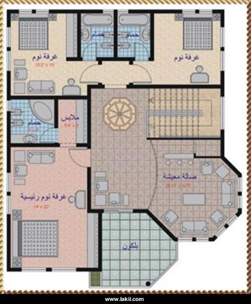 خرائط فلل دورين مساحة متوسطة وصغيرة 2013 كروكيات مخططات 2012 House Map New House Plans Family House Plans