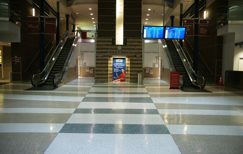 Northwest Arkansas Regional Airport Terrazzo flooring