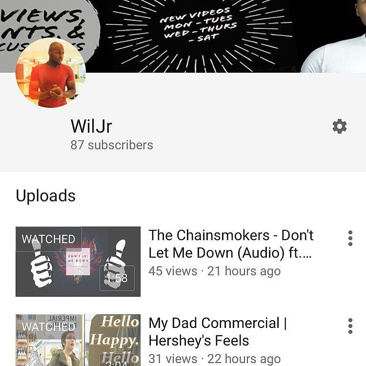 """""""Life is a game of inches""""  First 100 then 1000 then a million! It all starts with one step. After a month of hard work I've gotten over 60 subscribers! I'm so close to 100! Cmon guys please check out my channel and if you like what you see subscribe for more. My channel link is in my bio  Follow for more  @WilJr21  And also check out & #Subscribe to my YouTube Channel. Link in my bio  #youtube #youtuber #vlog #vlogger #videos #instavideo #videooftheday #instagood #inspiration #marketing…"""