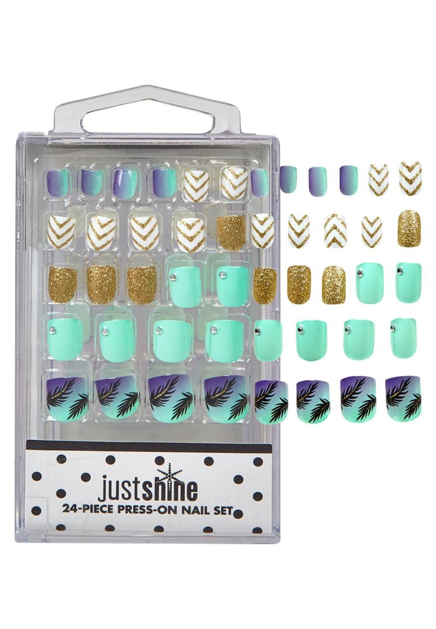 Just Shine Summer Fun Press On Nails | Justice stuff | Pinterest ...