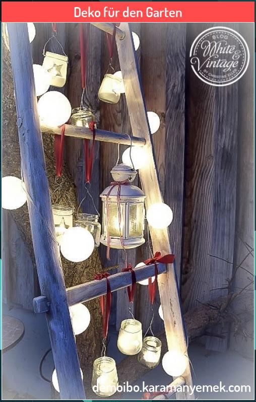 Deko F R Den Garten Deko F R Den Garten Petra Hellwig Hphellwig Hobby Romantisch Beleuchtete Dek Nel 2020 Vecchie Scale Di Legno Decorare Scale Lanterne Fatte In Casa