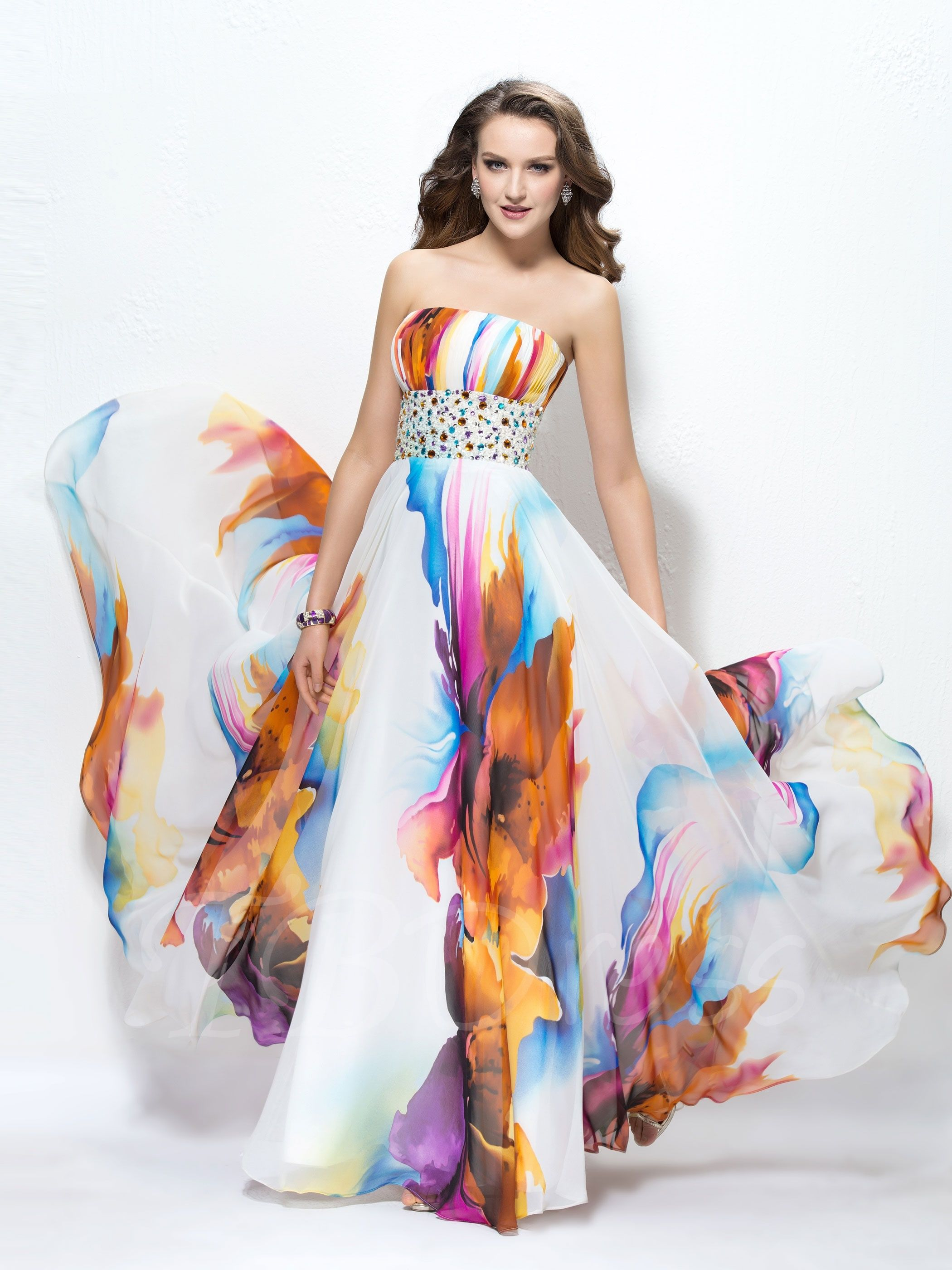Tbdress offers high quality contrast color strapless beading a
