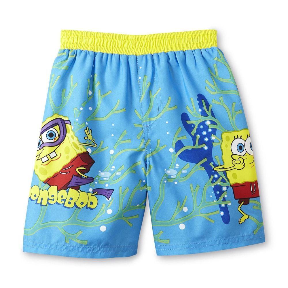 806fdc8d8fb8f Boys Nickelodeon Spongebob Squarepants Swim Trunks/Shorts BNWT Size 3T New # Nickelodeon #EverydaySwimmingPool