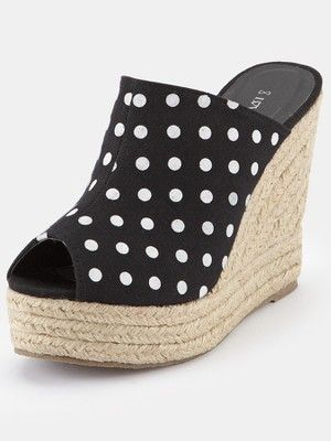 2572fea99 Love Label Lohan Mule Espadrille Wedge Shoes | In a good shoe, I ...