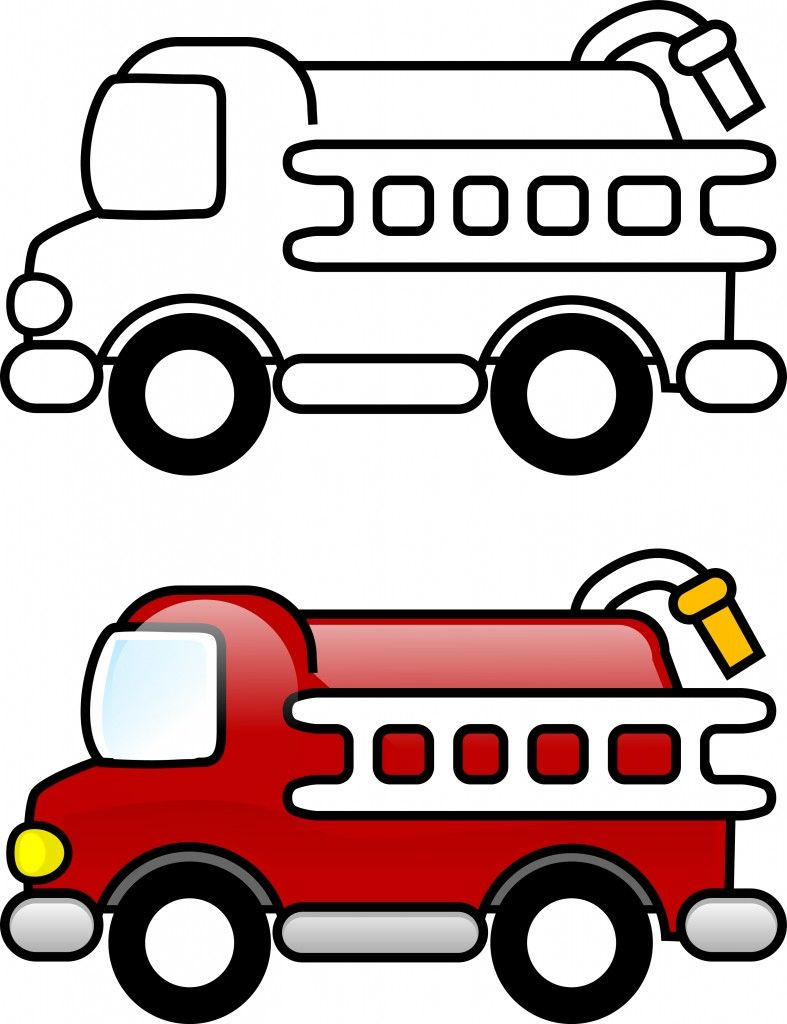 Coloring Page Fire Truck Drawing Coloring Pages For Kids Truck