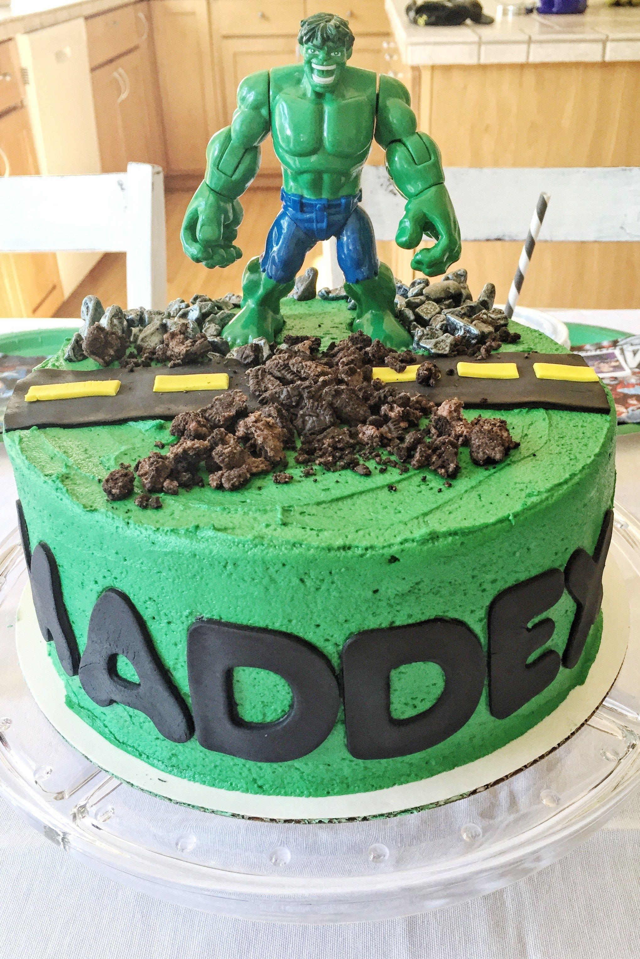 Incredible Hulk Cake With Images Hulk Cakes Incredible Hulk