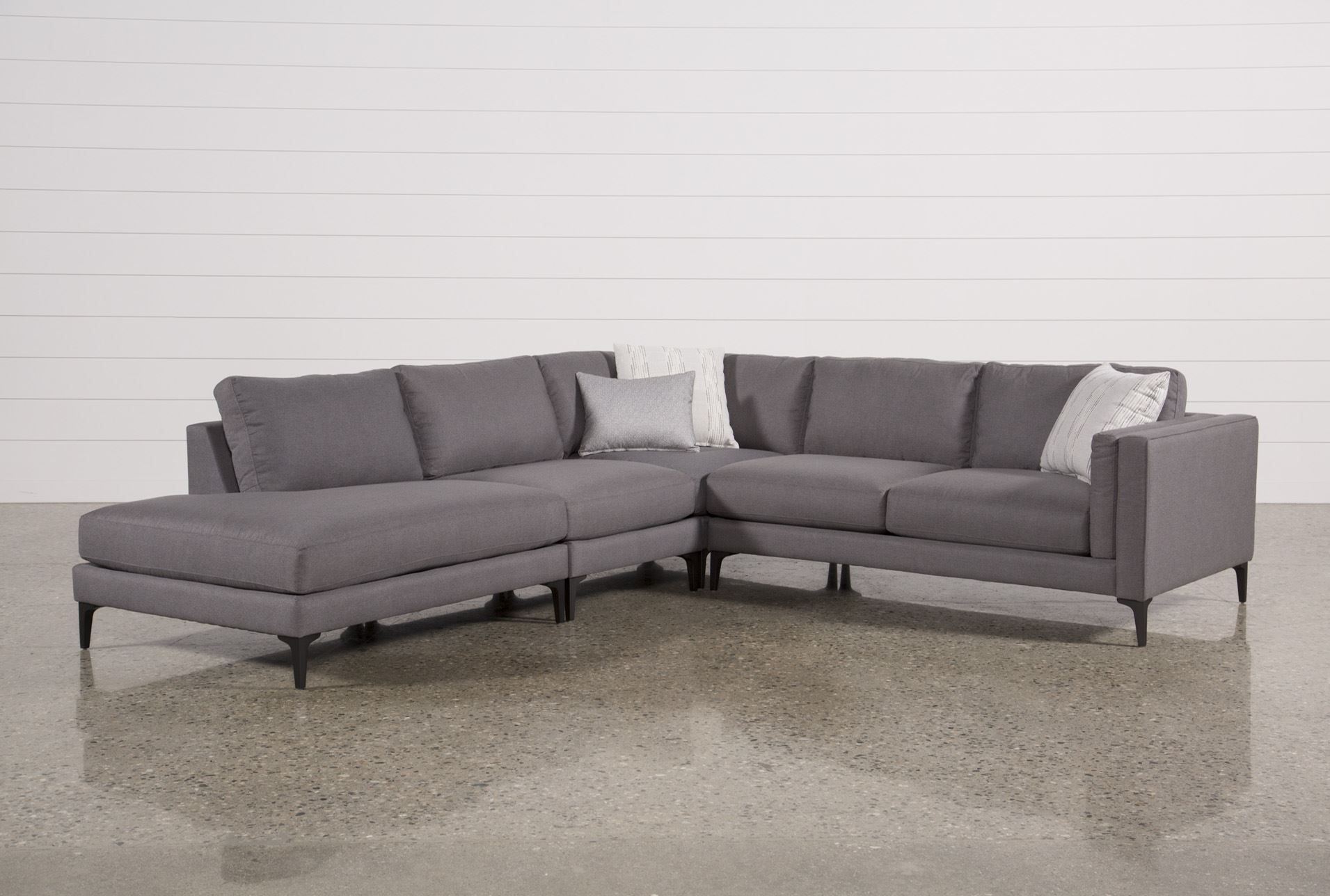 Living Spaces 207585 Signature Mi Casa Living Room Kitchen Couch House Design