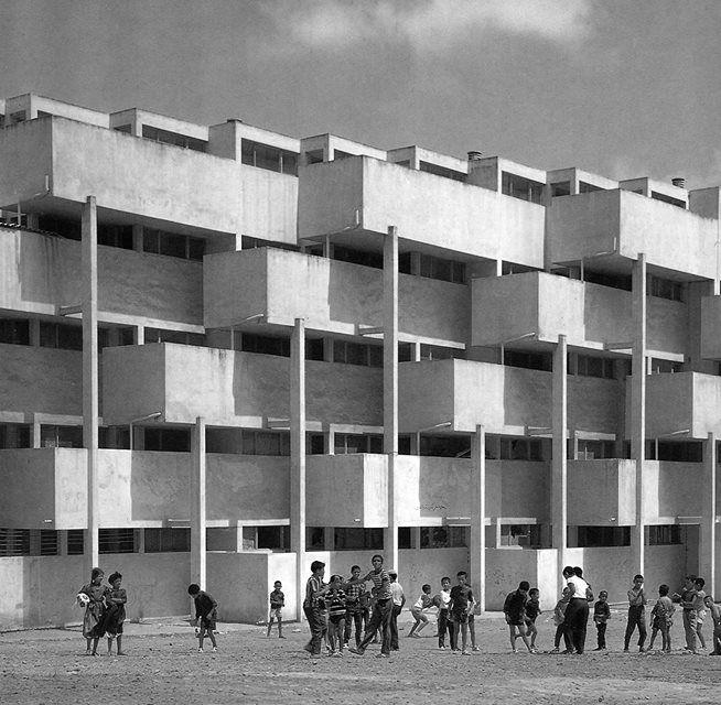 Sidi Othman Apartment Buildings,  Casablanca, Morocco, built in 1954-55, André M. Studer, Jean Hentsch