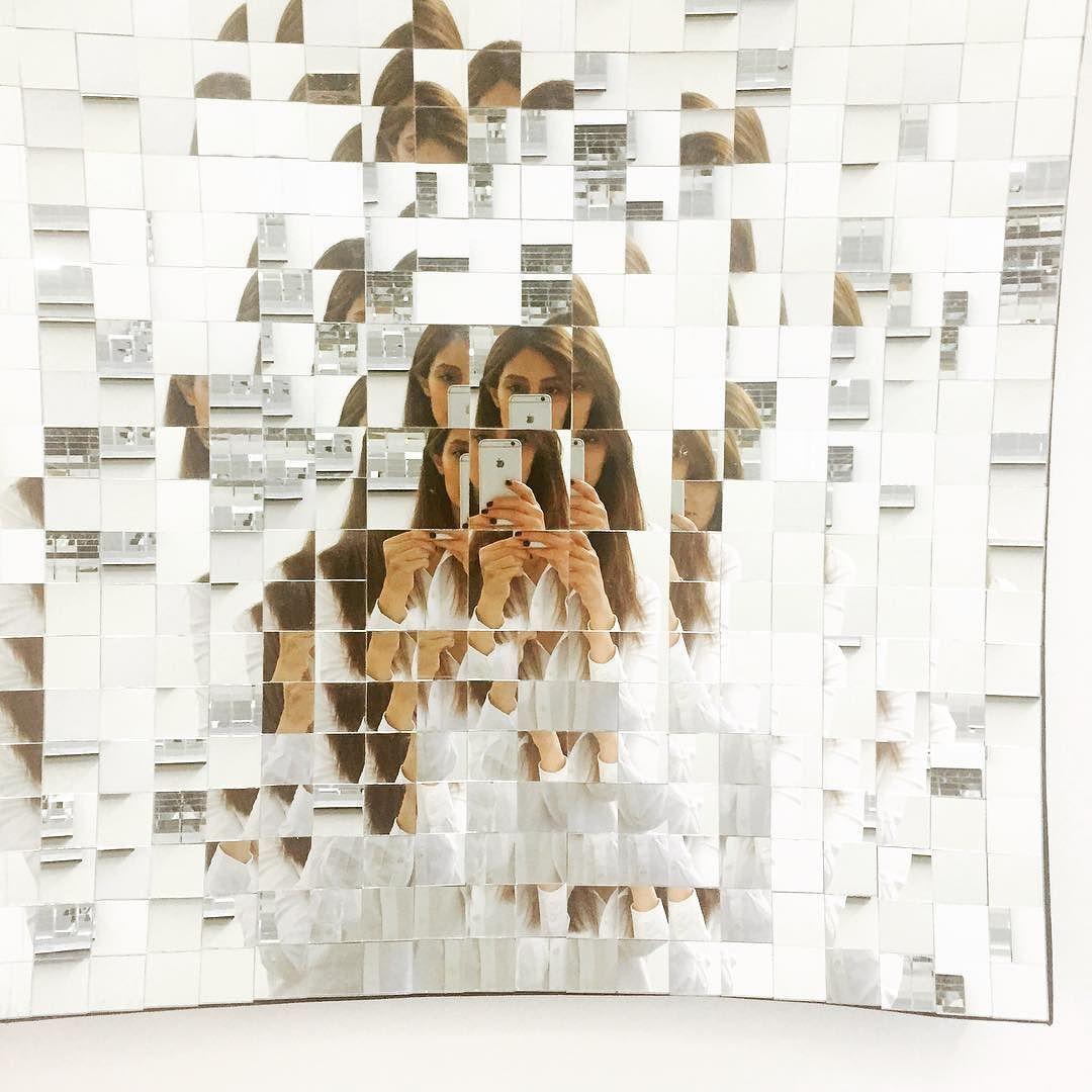 #exhibition#mirrorbybabak#genregallery#installing#february#2016#parametric#mirror#firsttime#me by sanaaz_rezaei