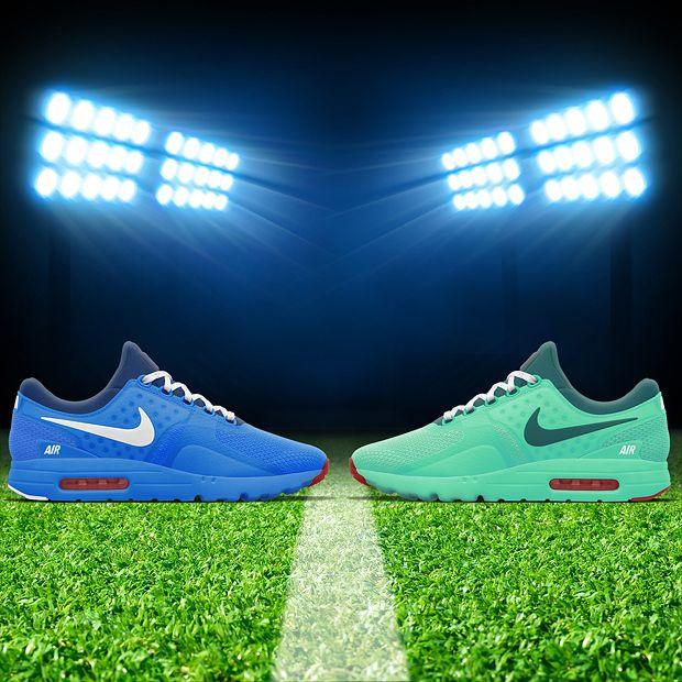40a3f1aa657 La Nike Air Max Zero France Team contre la Nike Air Max Zero Portugal Team  à l occasion de la finale de l Euro 2016 France - Portugal