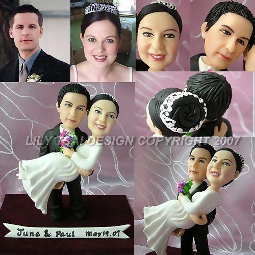 Wedding Decorations Funny: Custom Funny Wedding Cake Toppers,funny Wedding Figurines