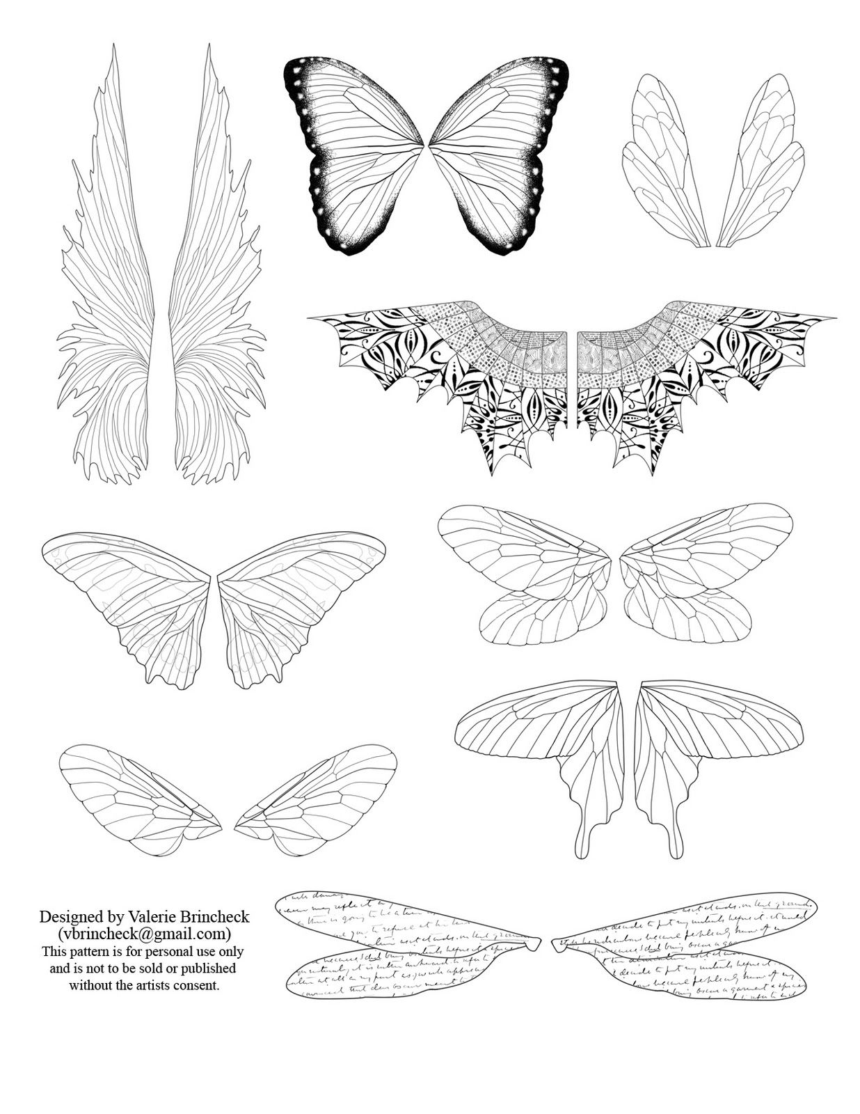 printable fairy wings template   To download click on the picture