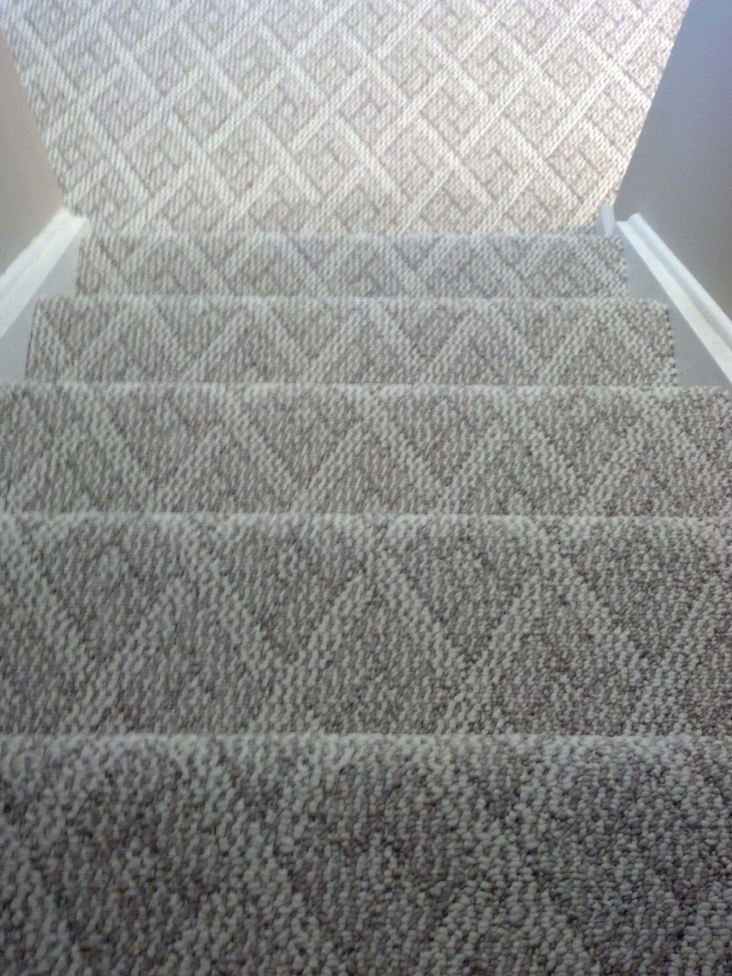 Berber Carpet Cincinnati Ohio Installed On Steps And Basement Family Room Note Notice The Pattern Lining Up Basement Carpet Patterned Carpet Room Carpet