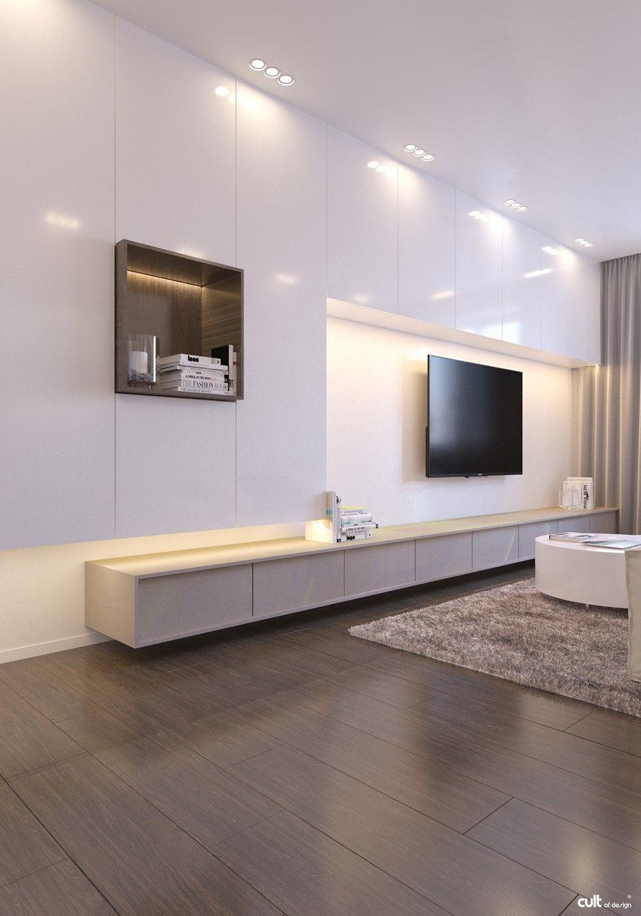 Écran Plat Mural U2013 Une Option élégante Pour Le Salon Moderne   Salons,  Walls And TVs