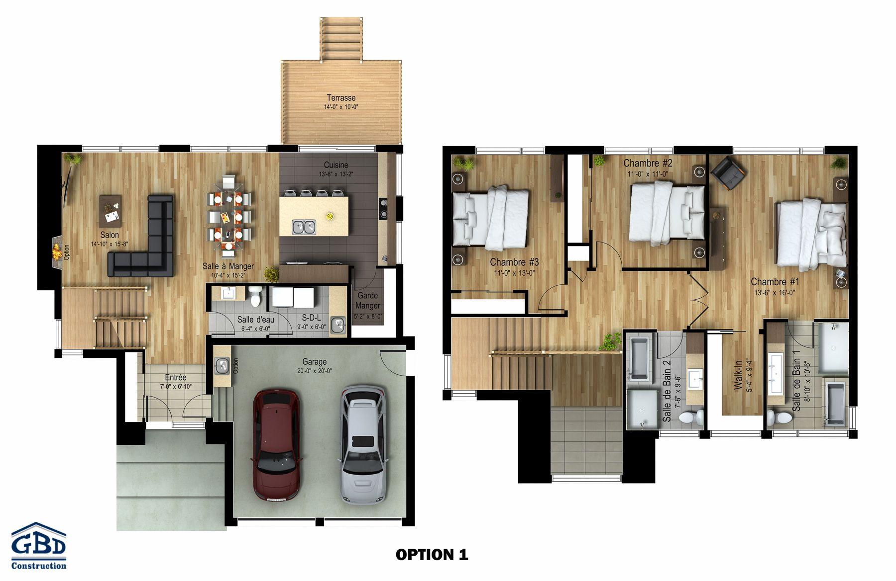 Plan du mod le maisons construire pinterest tages for Plan contemporain