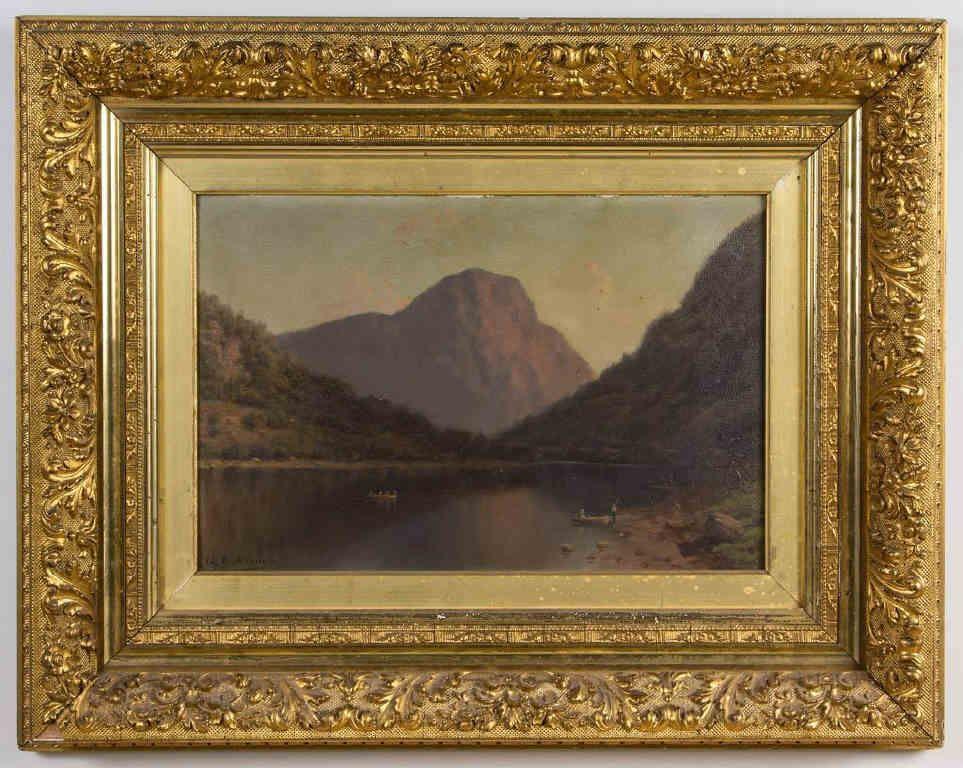 George Lafayette Clough (American, 1824-1901) oil on academy board ...