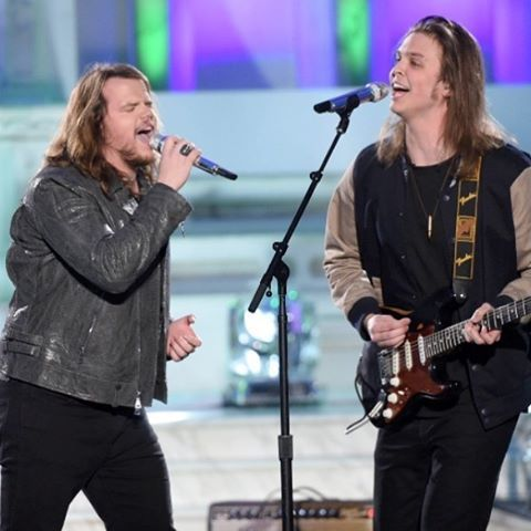 Tune in to american idol tonight and tomorrow night to watch me throw it down with the badass James The VIII #americanidol #farewellseason #gimmeshelte #stones #guitarist #singing