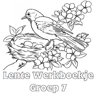 Kleurplaten Groep 5 Zomer.Lente Werkboekje Groep 7 Groep 7