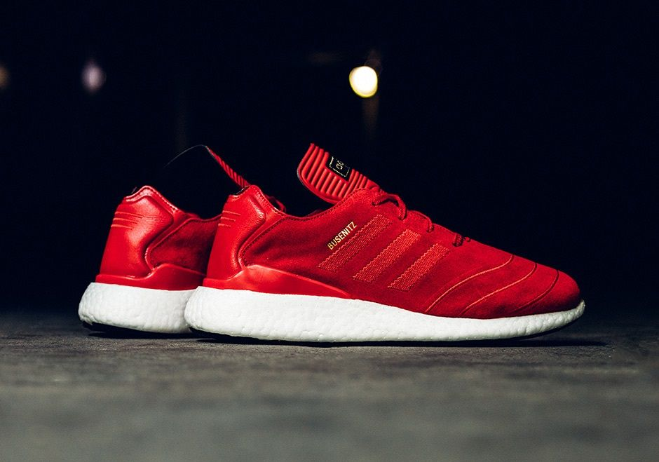 c8b044b7ad2349 The adidas Busenitz Pure Boost Is Back In Red Suede