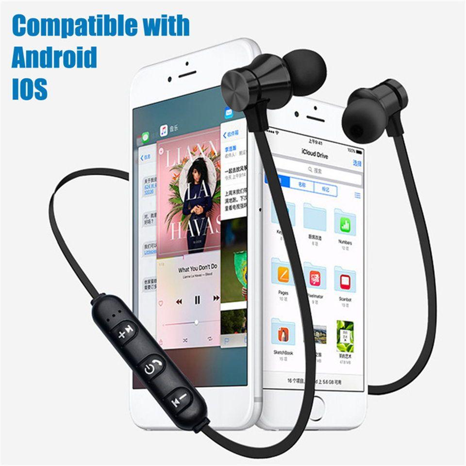 Us 1 99 49 Off Wireless Bluetooth Earphone Sport Magnetic With Microphone Neckband Earpiece Fone D Bluetooth Earphones Earphone Wireless Bluetooth