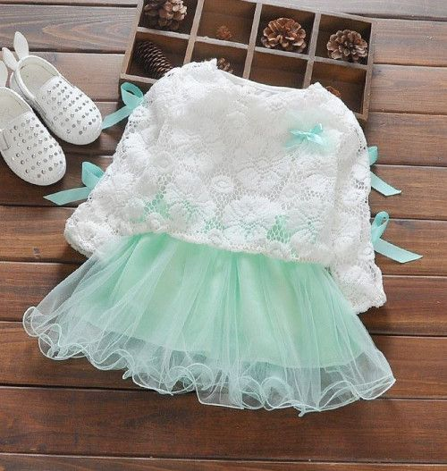 215234546eb12 Cute baby dress is made of cotton embroidered lace long sleeve top.  Accessories are not included. This dress is a set  a tutu long sleeve dress  with a ...