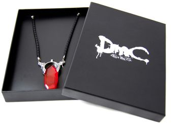 Game DmC Devil May Cry Dante Vergil Nephilim Ruby Cosplay Necklace Pendant