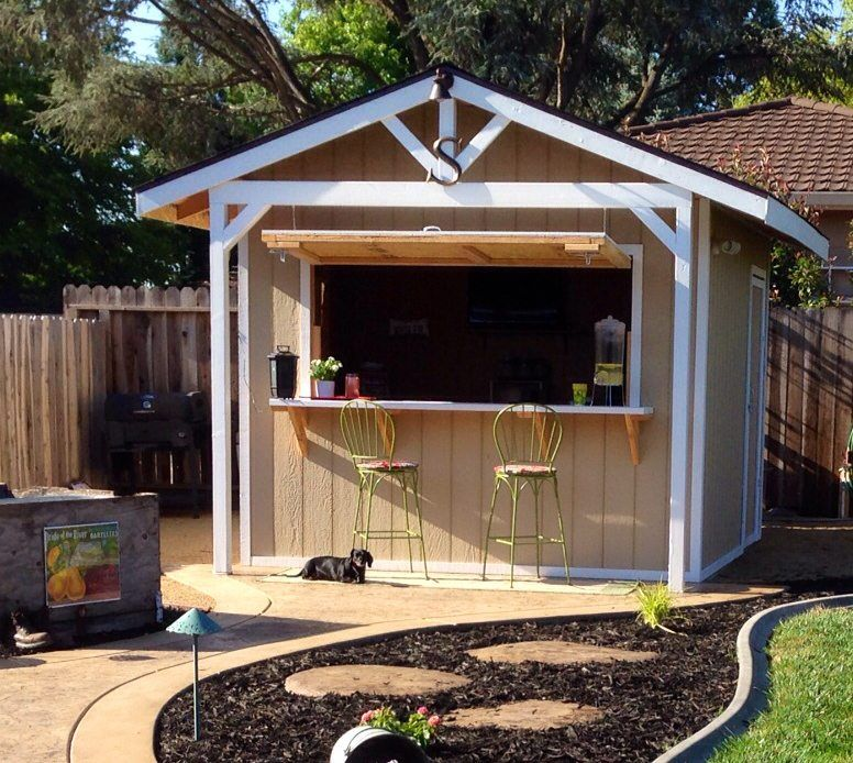 backyard bar sheds are the cool new way to convert your dusty old garden shed