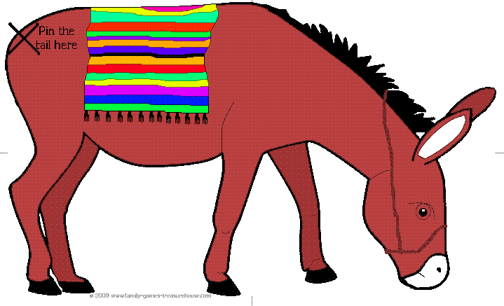 Pin the Tail on the Donkey – coloured