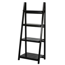 Casual Home Slatted 4 Shelf Folding Bookcase Black 360 42 Metal