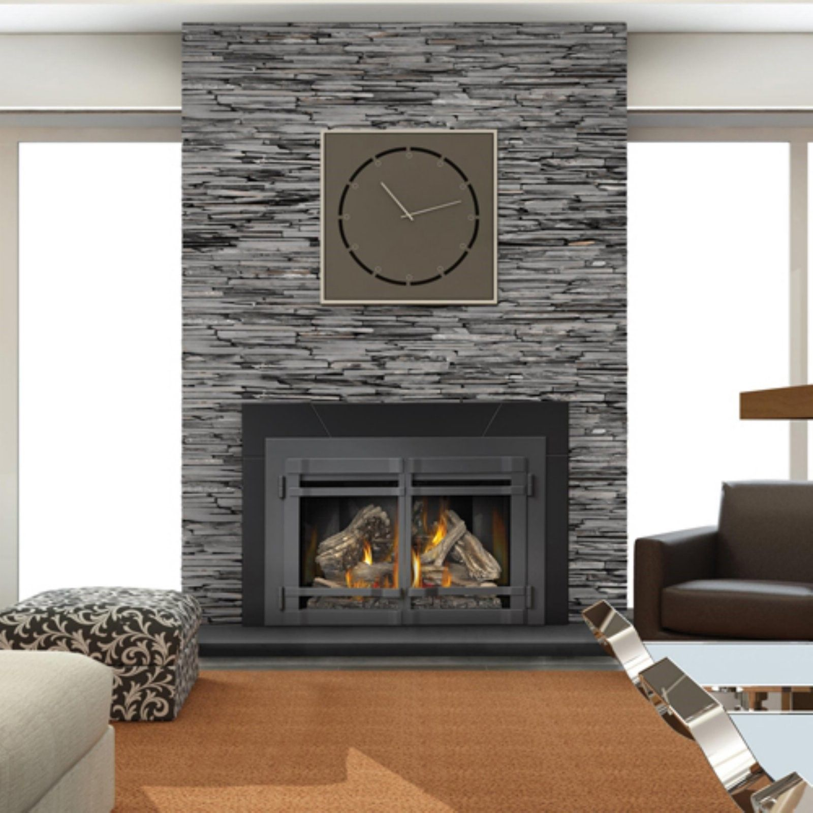 napoleon fireplace faceplate with screen doors finish hammertone