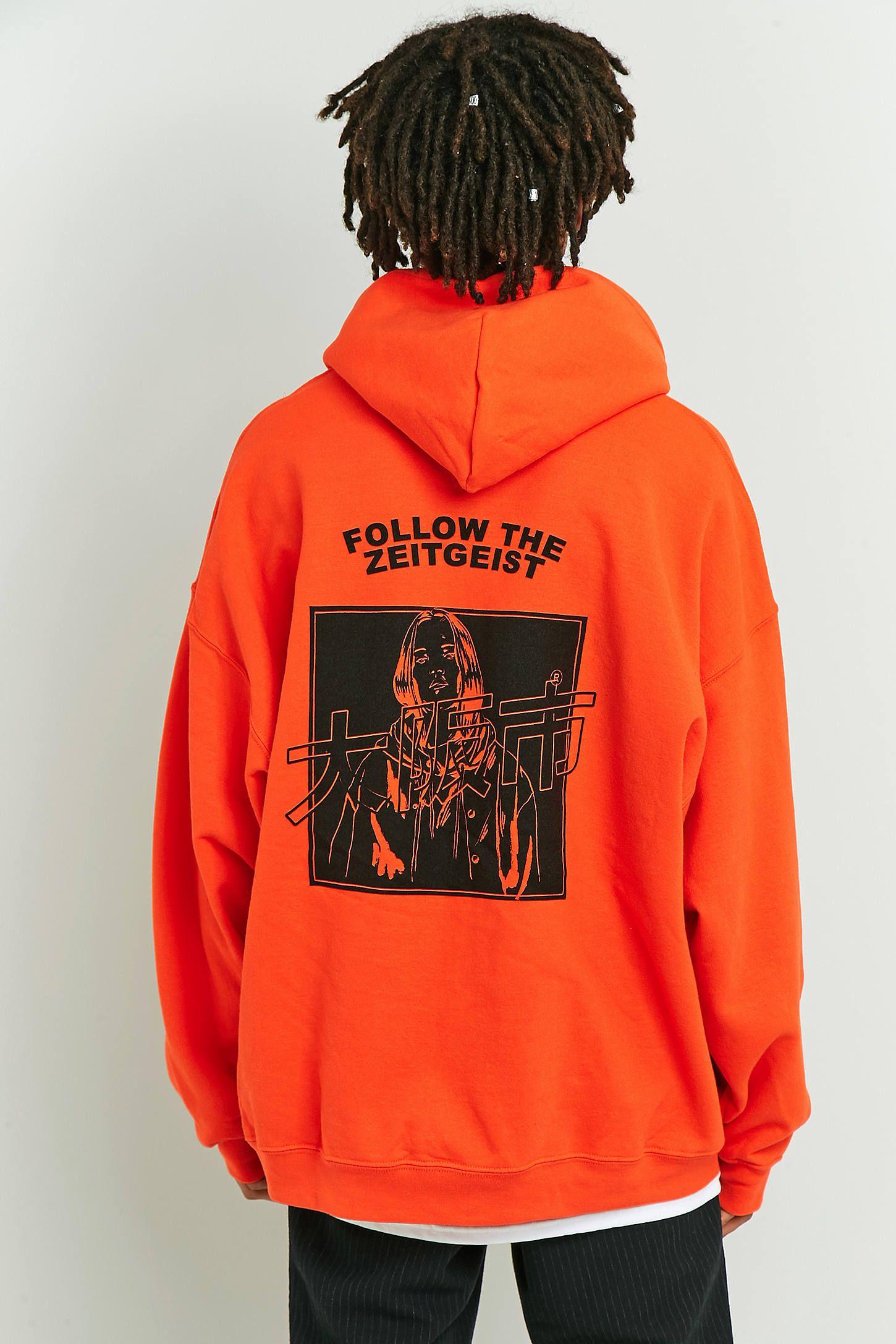 Slide View: 2: UO Orange Zeitgeist Hoodie