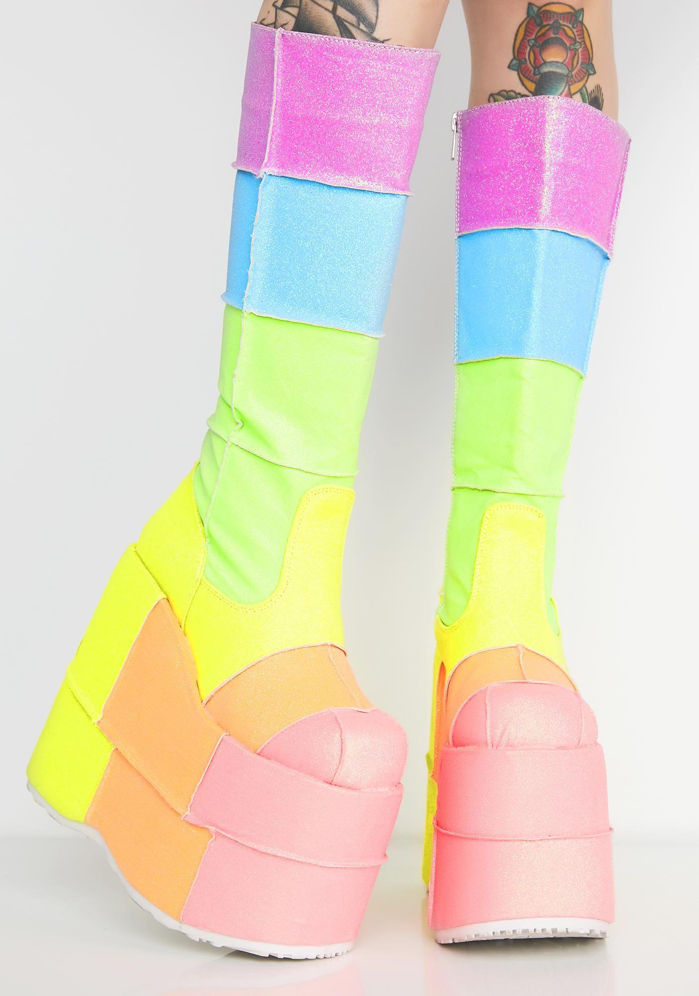 aaac3704cdd Higher Than The Rainbow UV Glitter Stacks