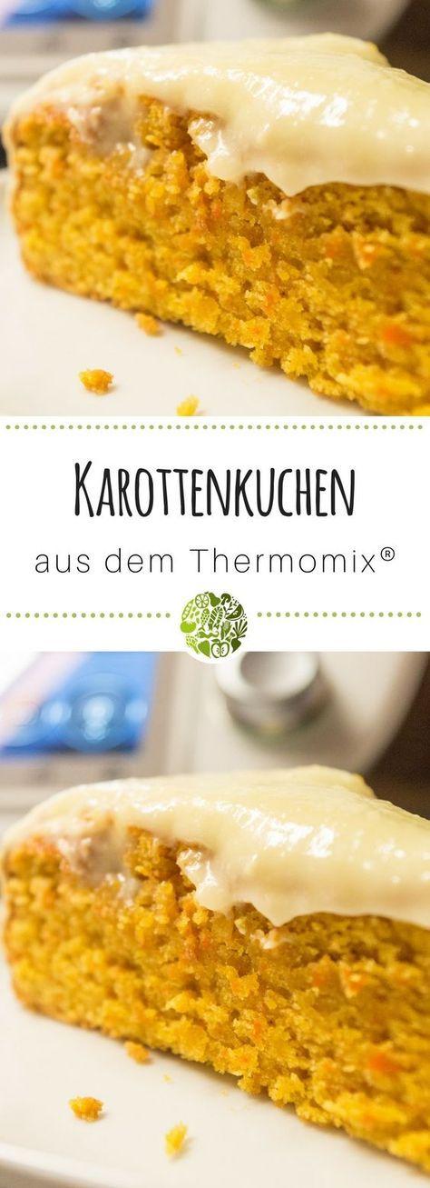 Orangen-Karottenkuchen aus dem Thermomix® mit Icing • will-mixen.de
