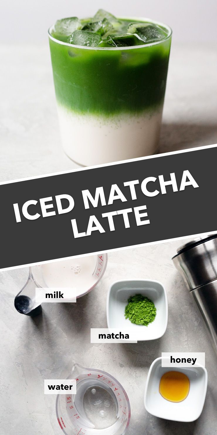 Layered Iced Matcha Latte Recipe Matcha Tea Latte Iced Green Tea Latte Matcha Green Tea Latte
