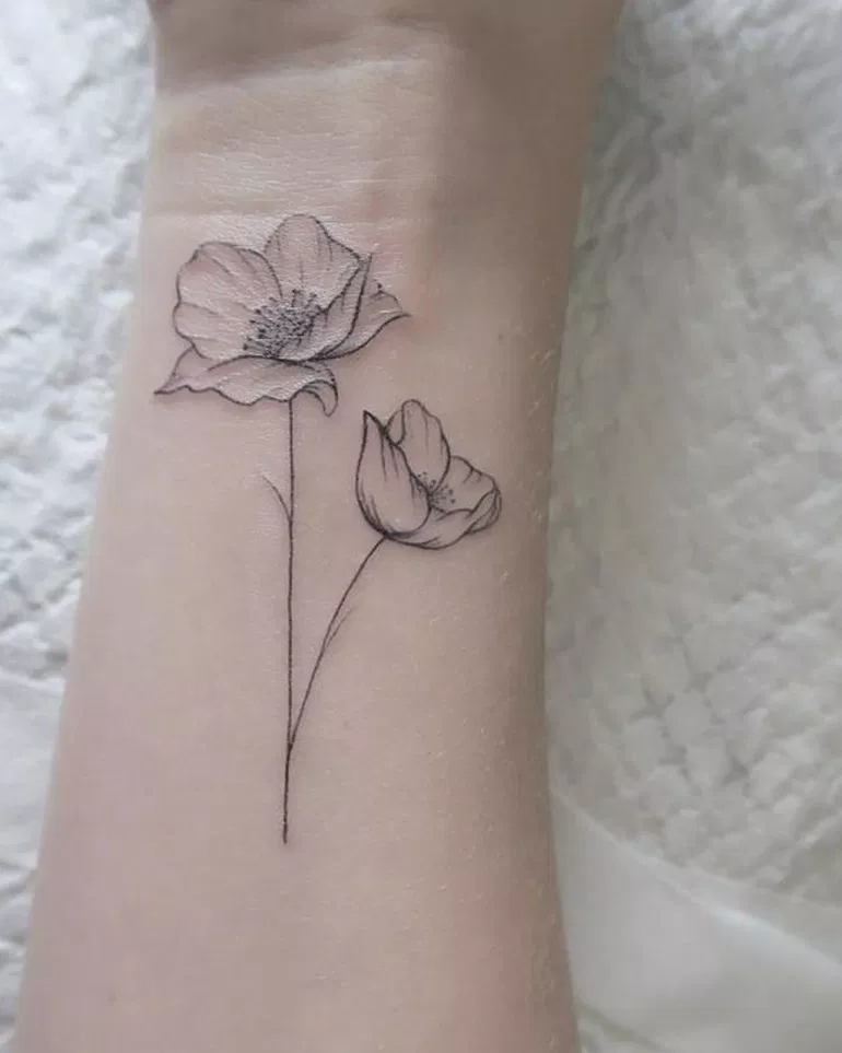 34 Susse Frauen Poppy Tattoo Design Ideen Tattoos For Daughters Beautiful Small Tattoos Tattoos