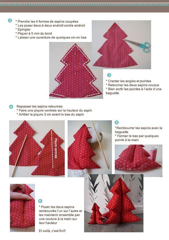 tutorial diy frou frou tela de árbol de navidad hoja de