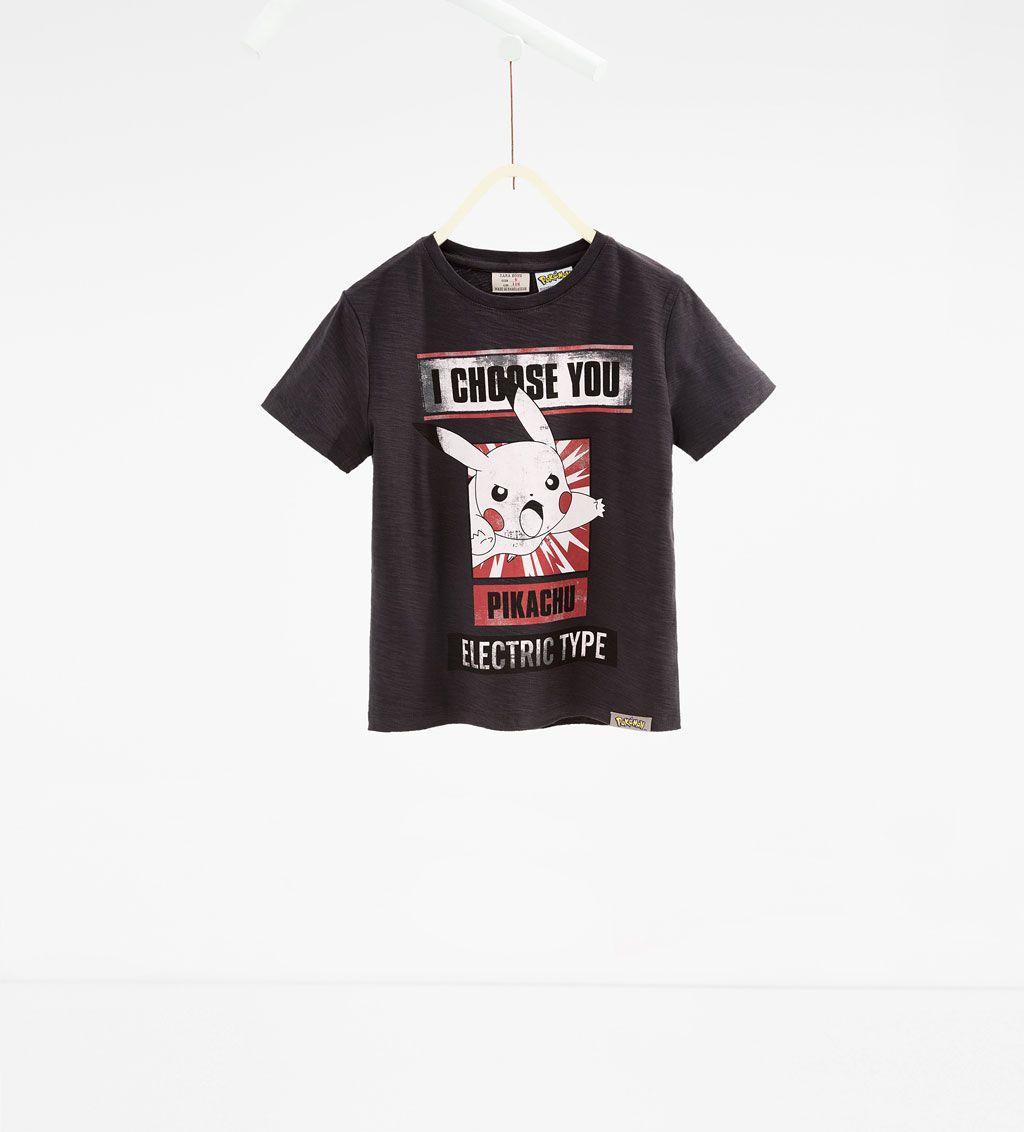 Imagen 1 De Camiseta Pokemon De Zara Camisetas Pokemon