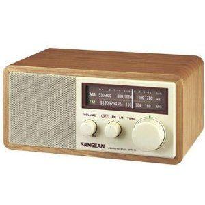 Amazon Com Sangean Wr 11 Am Fm Table Top Radio Electronics Retro