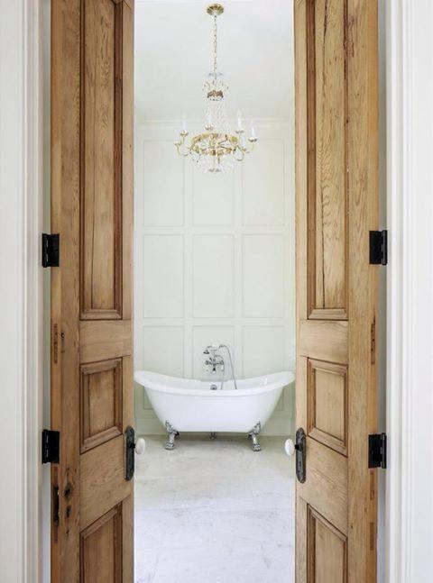 Love The Idea Of Heavy French Doors In A Narrow Entrance Wood