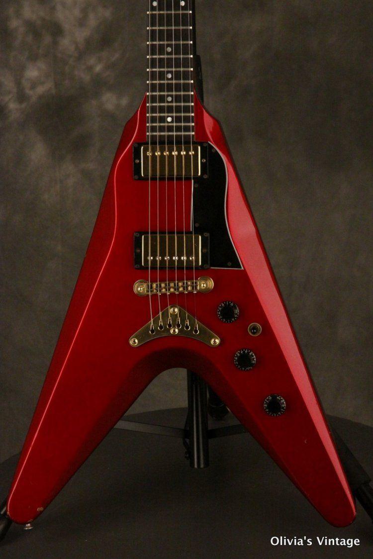 1982 Gibson Flying V2 Candy Apple Red Rare Original Non Boomerang