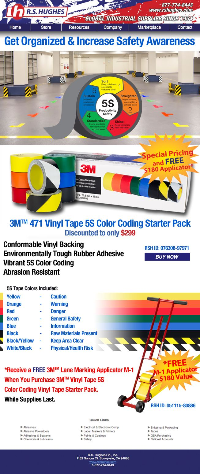 Get Organized and Increase Safety Awareness with 3M 471 Vinyl Tape