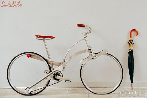 折りたたみ自転車に革命を Sada Bike スポークがない新発想 折りたたみ自転車 自転車 ミニベロ