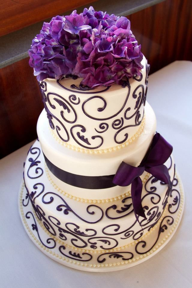 wedding cakes in lagunbeach ca%0A Wedding Cake with Purple Accents   Wedding aboard Hornblower Cruises  u      Events