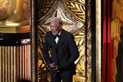 Morgan Freeman opened the ceremony.